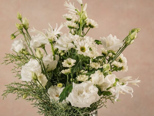 Bouquet Inverno Bianco, fiori freschi bianchi Frida's