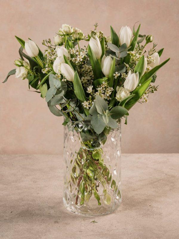 Bouquet Moby Dick Bouquet di tulipani bianchi e dai toni invernali