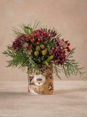 Sushi Solstizio dettaglio fiori bouquet piccolo invernale. Consegna a domicilio in tutta Italia