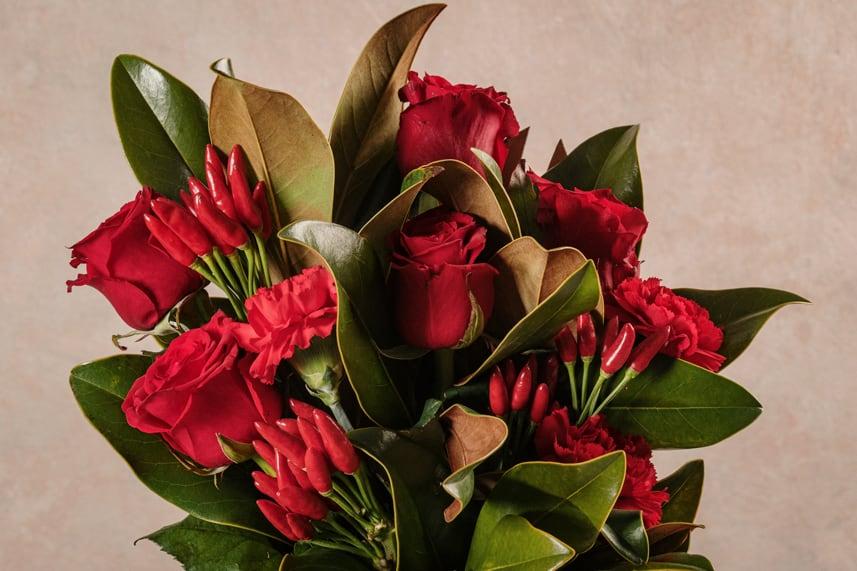 Flower Basket Red Love