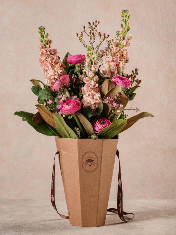 Flower Basket Romantico, Per gli amanti dell'amore romantico e dei toni delicati dei rosa