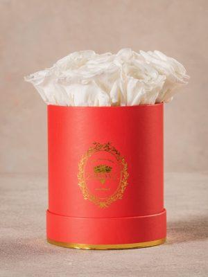 Cappelliera Mini Rossa, Rose stabilizzate che durano nel tempo