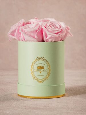 Cappelliera Mini Verde, Rose stabilizzate che durano nel tempo