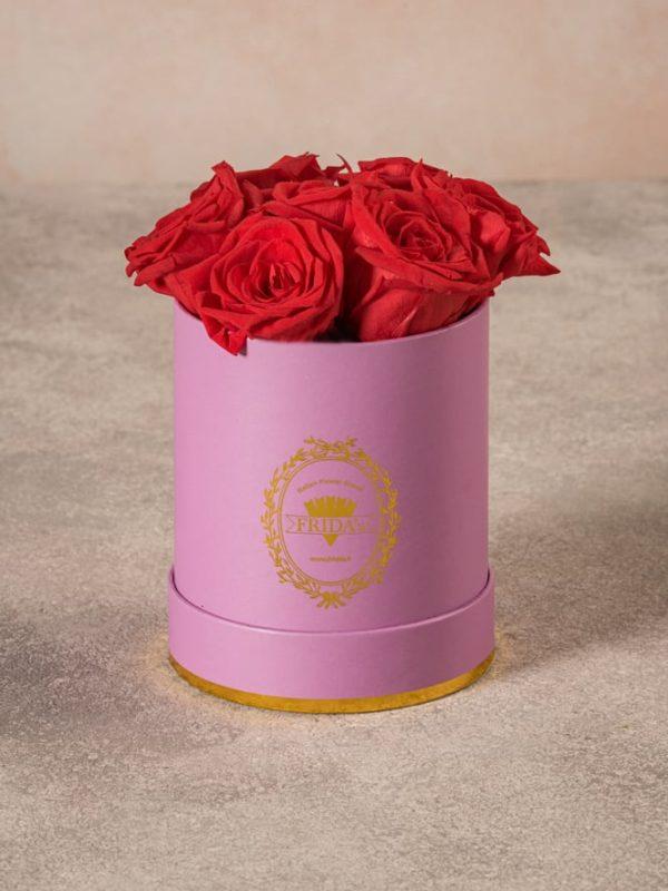 Cappelliera Mini Lilla Rose Stabilizzate, magnifiche rose stabilizzate