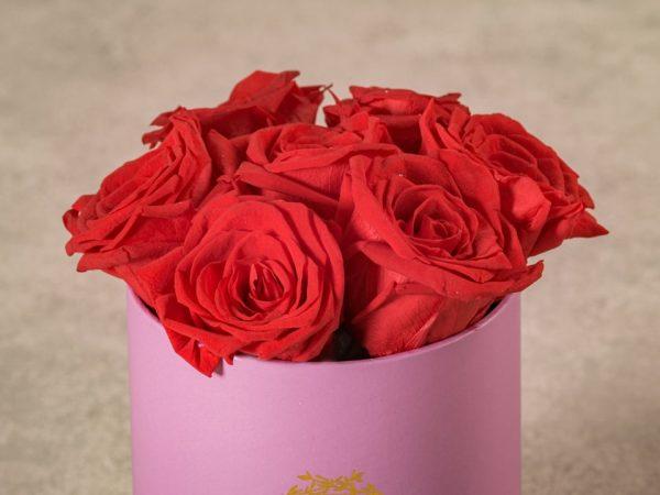 Cappelliera Mini Lilla Rose Stabilizzate, collezione di fiori Frida's che durano nel tempo