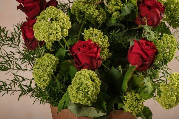 Flower Basket Roses&Lime, fiori freschi Frida's