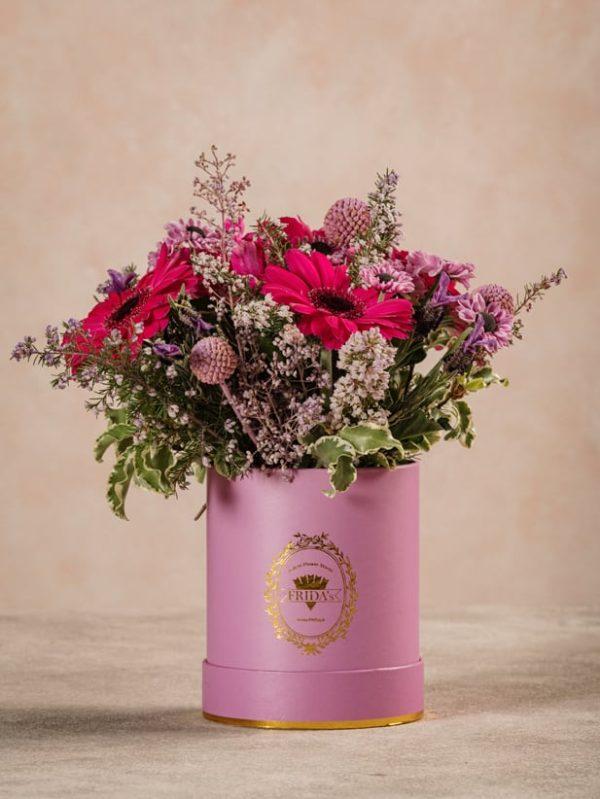 Mini Cappelliera Lilla, fiori freschi online spring collection Frida's