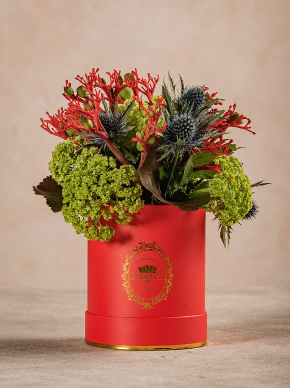 Mini Cappelliera Rossa, fiori freschi Frida's