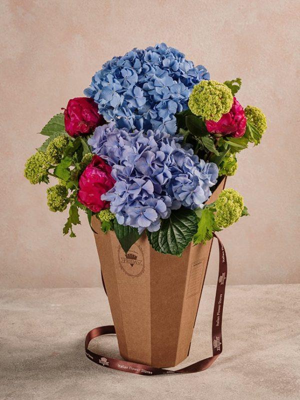 Flower Basket Peonie Ortensie un dono speciale per ogni mamma - Festa della mamma Frida's