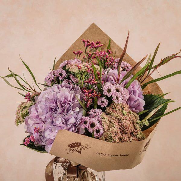 Bouquet Ortensie Frida's mazzo di fiori freschi e ortensie